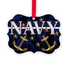 Harvest Moons Navy Picture Ornament