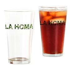 La Homa, Vintage Camo, Drinking Glass