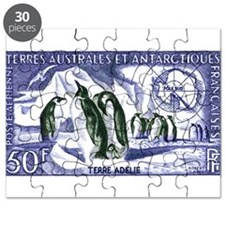 1956 French Antarctic Adelie Penguins Stamp Puzzle
