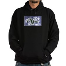 1956 French Antarctic Adelie Penguins Stamp Hoodie