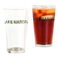 Lake Marcel, Vintage Camo, Drinking Glass