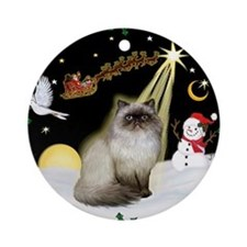 Cute Himalayan Ornament (Round)