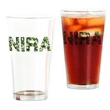 Nira, Vintage Camo, Drinking Glass