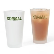 Normal, Vintage Camo, Drinking Glass