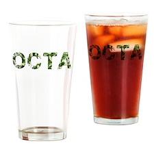 Octa, Vintage Camo, Drinking Glass