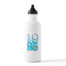 1985FM White Logo Water Bottle