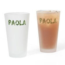 Paola, Vintage Camo, Drinking Glass