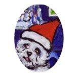 Westie Oval Ornament