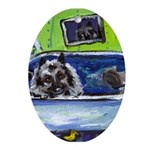 Keeshond Oval Ornament