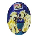 Wheaten kiss Oval Ornament