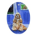COCKER SPANIEL Oval Ornament