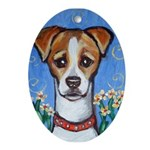 JACK RUSSELL portrait Oval Ornament