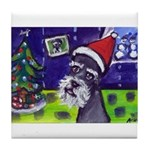 SCHNAUZER snowmen Tile Coaster