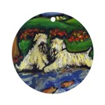 Wheaten duo Ornament (Round)