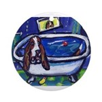 Basset bath Ornament (Round)