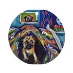 Pug moon Ornament (Round)