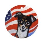 Rat Terrier Ornament (Round)