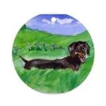 dachshund field Ornament (Round)