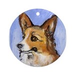 corgi portrait Ornament (Round)