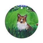 corgi field Ornament (Round)