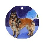Belgian Tervuren Ornament (Round)
