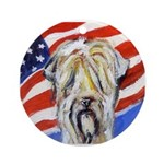 Wheaten patriot Ornament (Round)