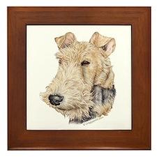 Fox Terrier Framed Tile