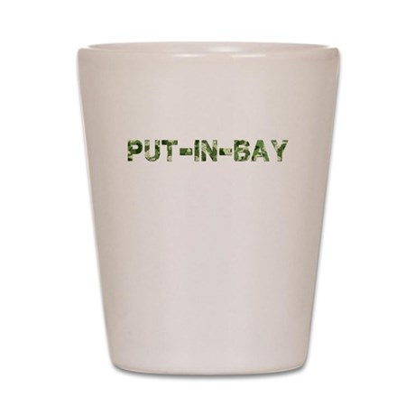 Put-In-Bay, Vintage Camo, Shot Glass