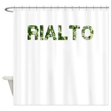 Rialto, Vintage Camo, Shower Curtain