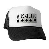Spade Royal Flush Poker Hat