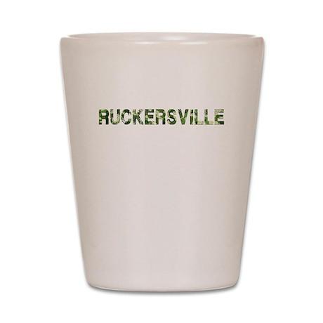 Ruckersville, Vintage Camo, Shot Glass