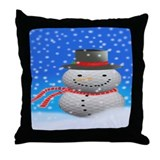 Unique Snowman Throw Pillow