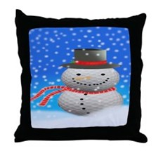 Unique Frosty Throw Pillow