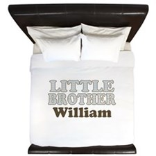 Custom name little brother King Duvet