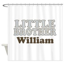 Custom name little brother Shower Curtain