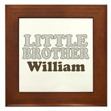 Custom name little brother Framed Tile