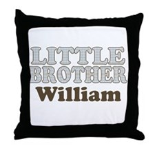Custom name little brother Throw Pillow