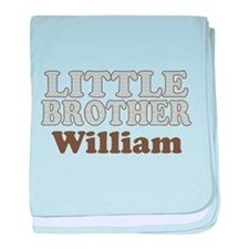 Custom name little brother baby blanket