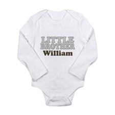 Custom name little brother Long Sleeve Infant Body