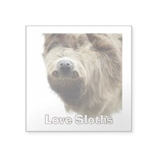 "Love Sloths Square Sticker 3"" x 3"""
