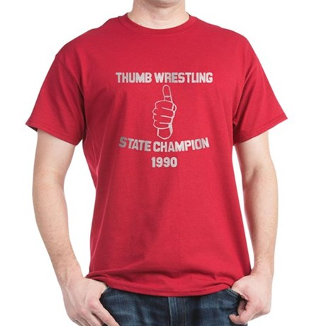 Thumb Wrestling Champ Dark T-Shirt