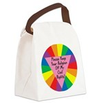 PKYR-Please-Keep-Your-Relig.png Canvas Lunch Bag