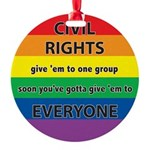 CRGE-Civil-Rights---Give-em.png Round Ornament