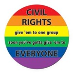 CRGE-Civil-Rights---Give-em.png Round Car Magnet