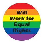 WWFE-Will-Work-for-Equal-Ri.png Round Car Magnet