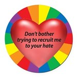 DBTT-Don't-Bother-Trying-to.png Round Car Magnet