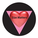 SM-Size-Matters---Heart.png Round Car Magnet