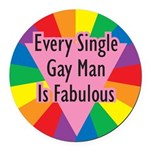 ESGN-Every-Single-Gay-Man-i.png Round Car Magnet