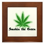 Smokin the Green (pot) Framed Tile