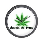 Smokin the Green (pot) Wall Clock
